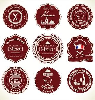 Set van restaurantlabels