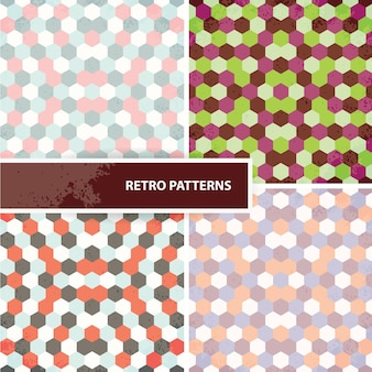 Set van retro patronen