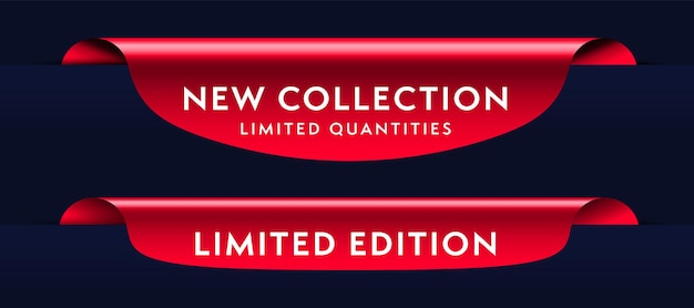 Set van rode shopping aanbieding product