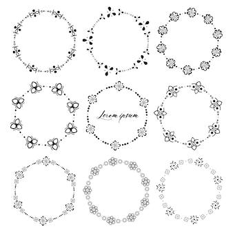 Set van ronde frames voor decoratie.