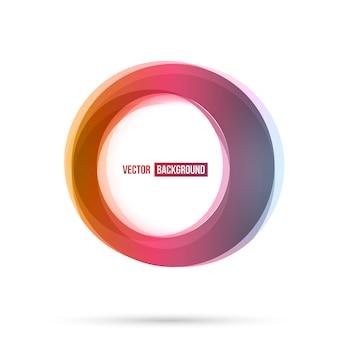 Set van ronde kleurrijke vectorvormen.