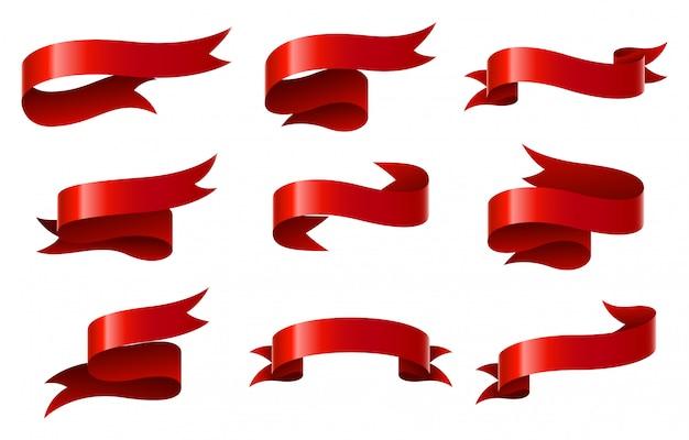 Set van rood lint