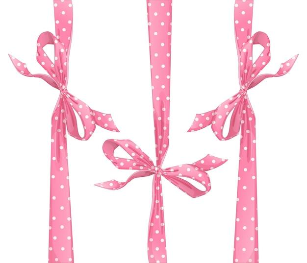 Set van roze bogen