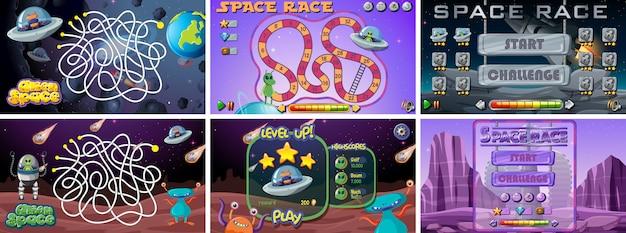 Set van ruimtegames