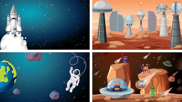 Set van ruimtescènes