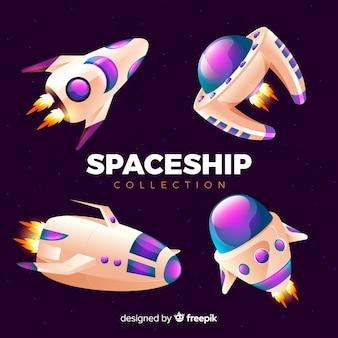 Set van ruimtevaartuigen