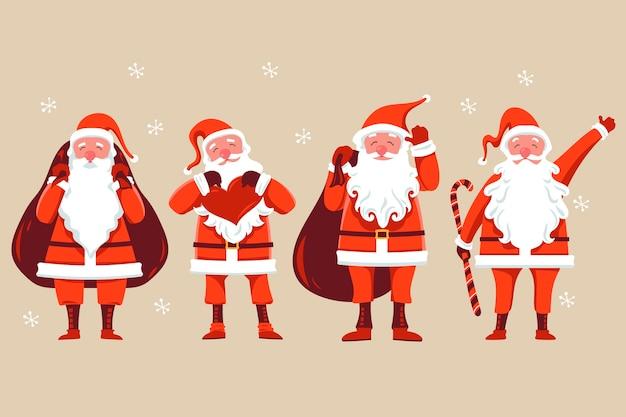 Set van santa claus-karakter