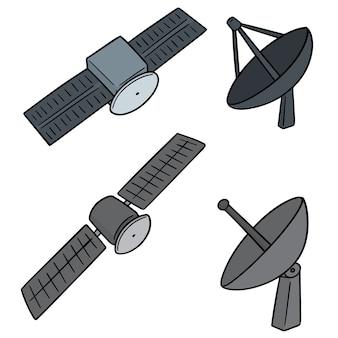 Set van satelliet