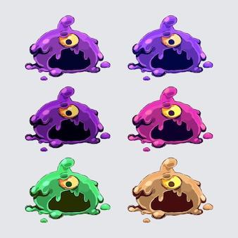 Set van schattig monster