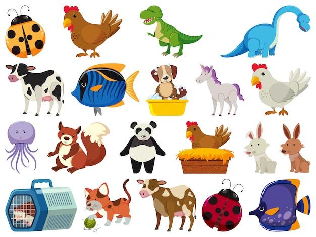Set van schattige dieren
