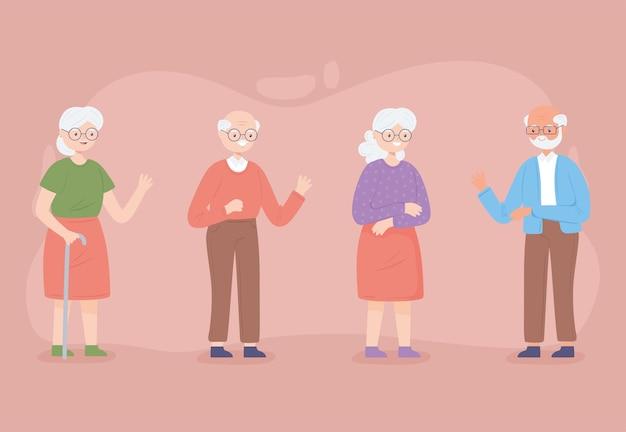 Set van schattige grootouders