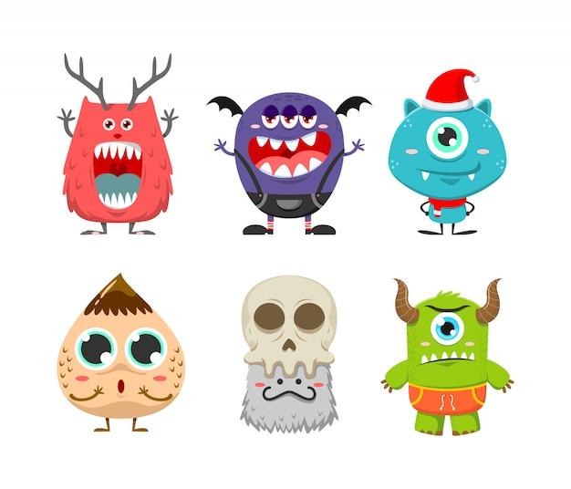 Set van schattige monster