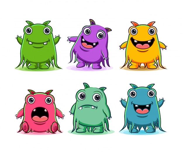 Set van schattige monsters karakter illustratie