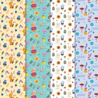 Set van schattige pasen patronen