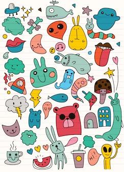 Set van schattige patches ontwerp