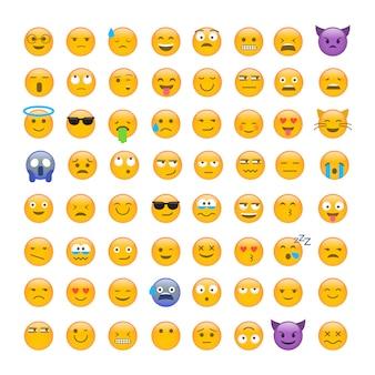 Set van schattige smiley emoticons