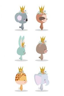 Set van schattige tekenfilms set