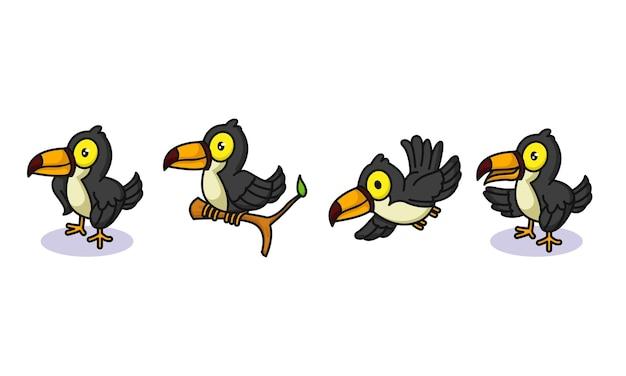 Set van schattige toekanvogels