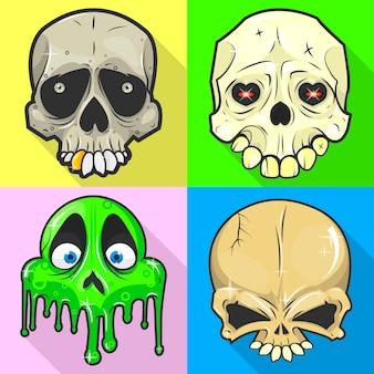 Set van schedels.