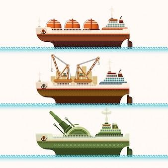 Set van schepen