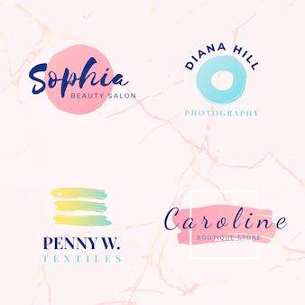 Set van schoonheid en mode logo ontwerp vectoren