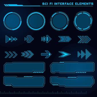Set van sci fi moderne gebruikersinterface elementen futuristische abstracte hud