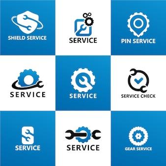 Set van service en reparatie logo sjabloon