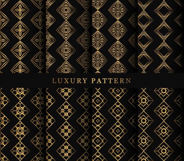 Set van sieraad naadloos patroon