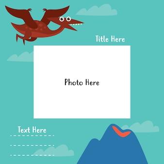 Set van sjablonen voor dinosaurusfotoboeken