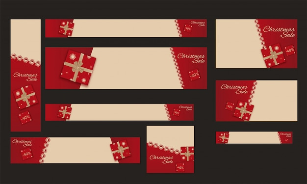 Set van sjabloon, poster of spandoekontwerp met 40% kortingsaanbieding