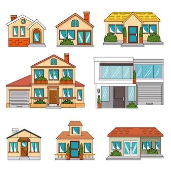 Set van slimme huizen tecnology