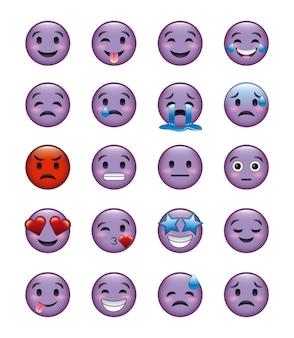 Set van smiley pictogrammen