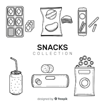 Set van snacks