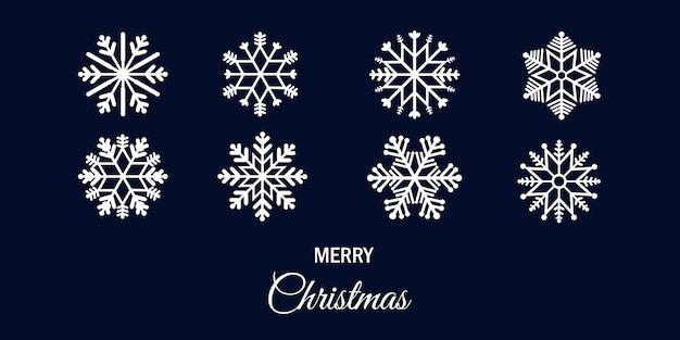 Set van sneeuwvlok voor kerstmis ontwerp.