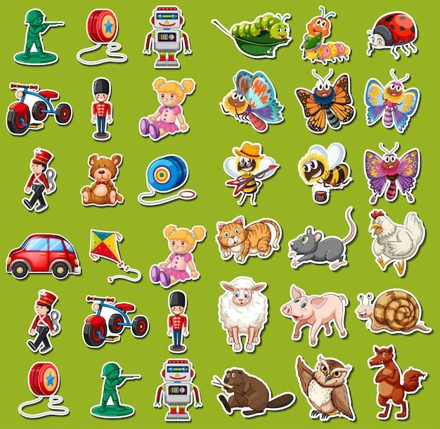 Set van speelgoed sticker