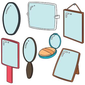 Set van spiegel