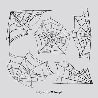 Set van spinnenwebben