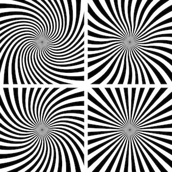 Set van spiraalvormige achtergronden.