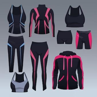 Set van sport slijtage collectie vector