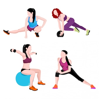Set van sport vrouwen