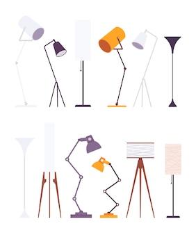 Set van staande lampen