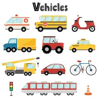 Set van stadsvervoer