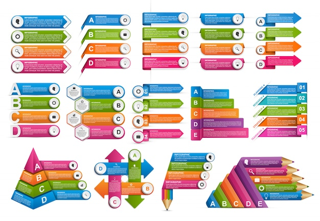 Set van stap infographics