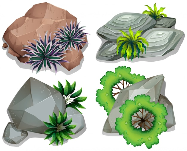 Set van steen en steen