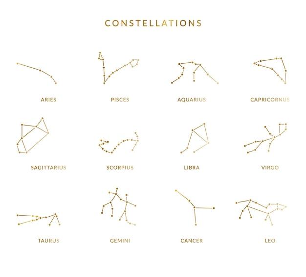 Set van sterrenbeelden in vector