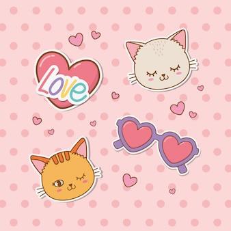 Set van stickers kawaii