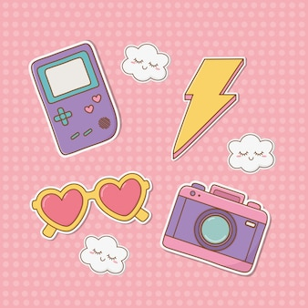 Set van stickers kawaii