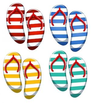 Set van stripe sandaal