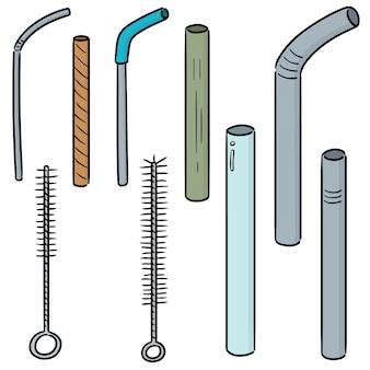 Set van stro en stroreiniger
