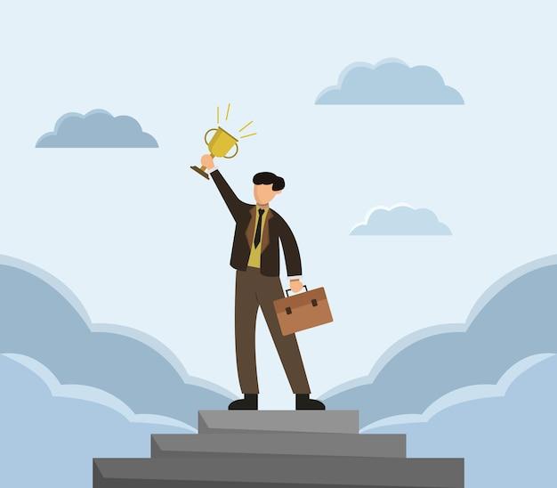 Set van succesvolle zakenman